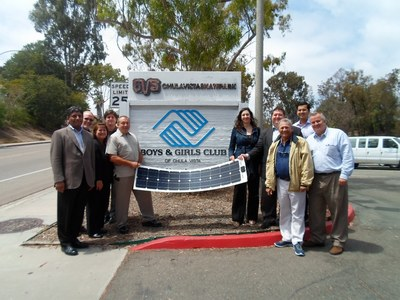 Pictured in photo is Matt Sanford Manager of Economic Development, San Diego Regional EDC   Drew Garrison Coordinator of Economic Development, San Diego Regional EDC   Felicia Whiting Executive Vice President, GEITS   Raj Nellore CEO, GEITS   Lee Barken,