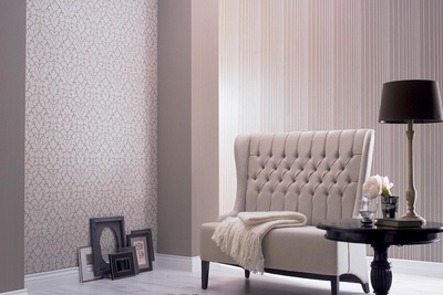 Textured wallcoverings with materials like silk are a far cry from the wallpaper of years gone by.