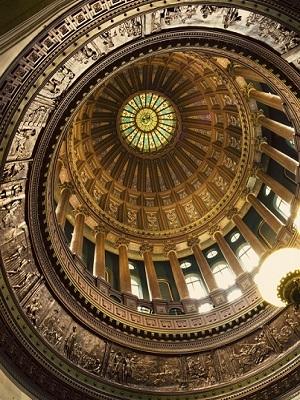 Illinois capitol dome interior