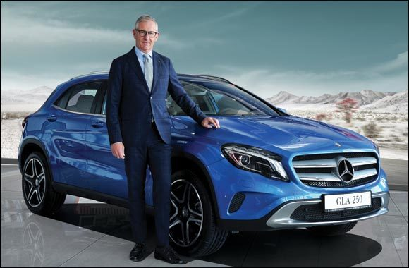 Gargash Enterprises general manager Karl-Johan Sandesjo poses with the Mercedes-Benz GLA 250.