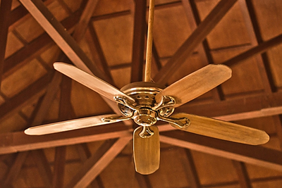 Choosing a ceiling fan is a simple matter of aesthetics and air flow.