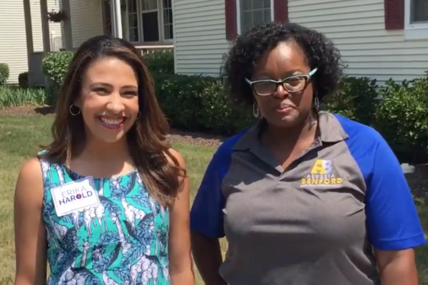 Erika Harold (left) and Alyssia Benford (right) are running for Illinois Attorney General and state Representative, respectively.