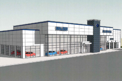 Completion of the new Subaru dealership store is targeted for September.