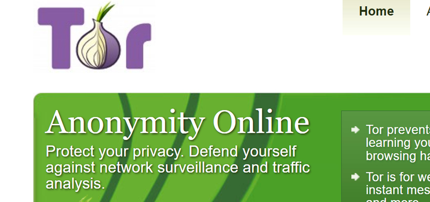 A screenshot of the Tor.org website, taken April 20.