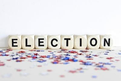 Medium shutterstock election letter cubes