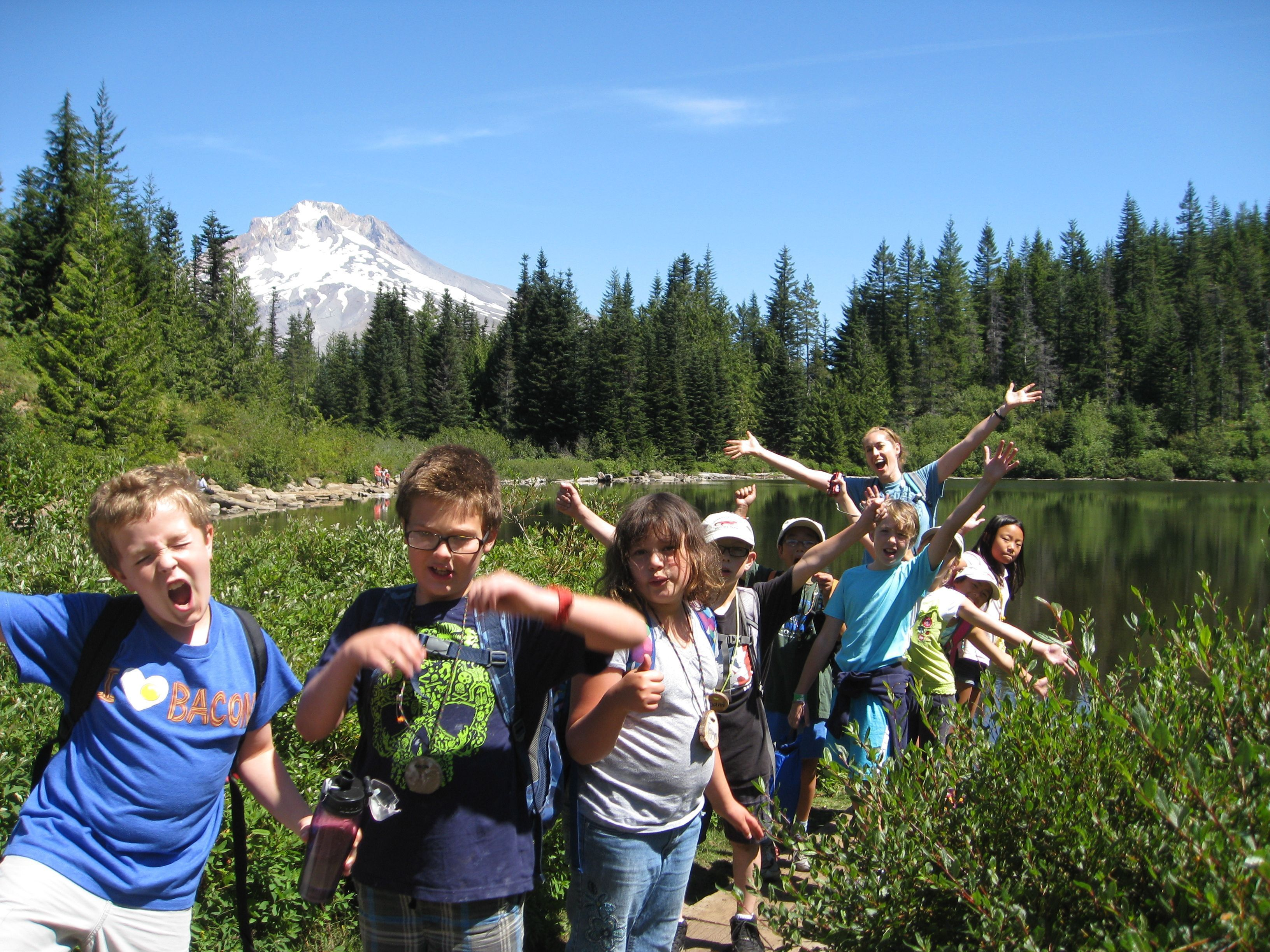 Tualatin Hills Park and Recreation District campers enjoy the great outdoors.