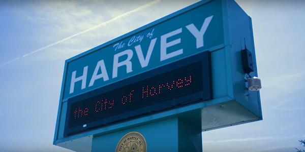Large harvey sign