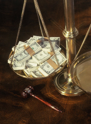 Money scales of justice