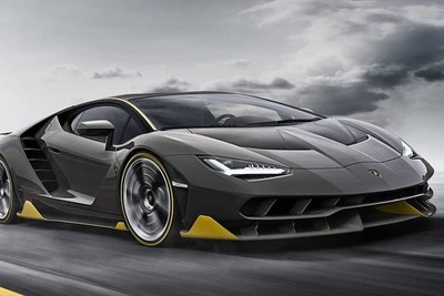 Lamborghini Centenario's proximity to the ground ensure little resistance and high speed.
