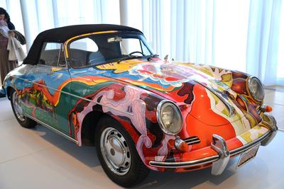 Janis Joplin's wildly painted Porsche hit the jackpot at a recent auction.