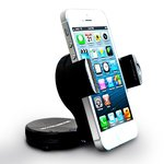 This type of cell phone holder makes it easy to keep a cell phone within reach or field of vision while one drives.