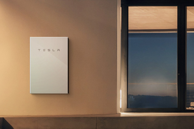 The Powerwall stores enough energy to run a home's critical systems when the sun goes down.