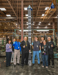 Columbia Fuel Fabrication Facility workers celebrate a production milestone.