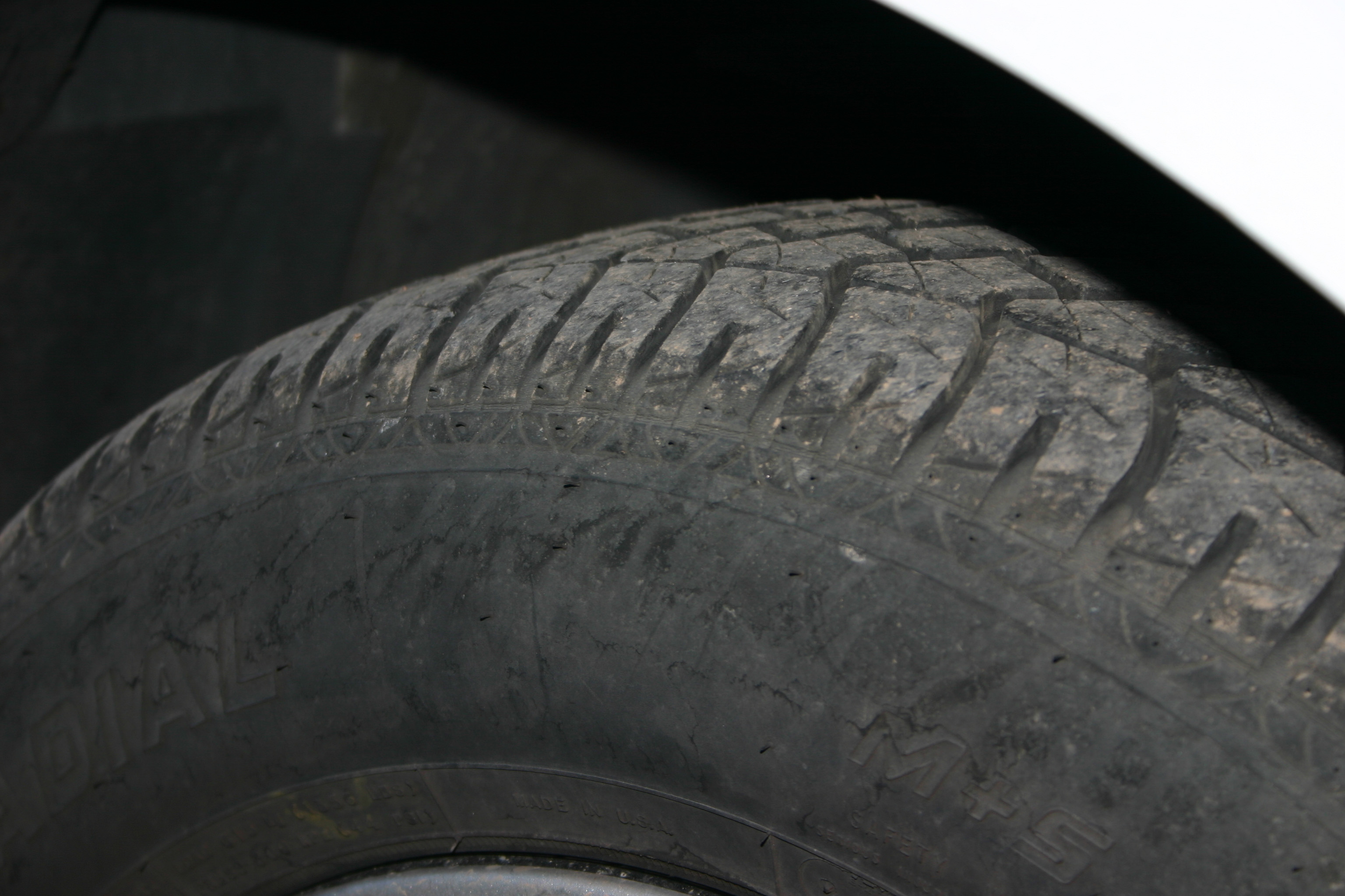If one tire is worn out more than the rest, it's still best to replace all four tires.