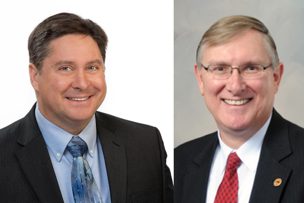 David Simpson, left, and Brian Stewart