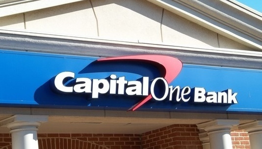 Large capital one building