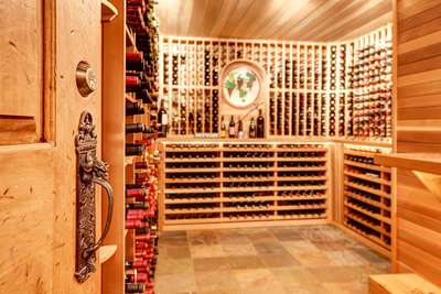 In-home wine cellars are a popular selling point for homes in the Austin area.
