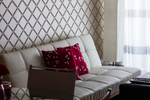 There are plenty of options for a modern look in wallpaper these days.