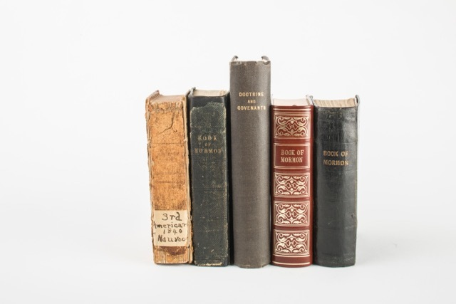 The books are antiques from 1840, and have been donated by Gordon Hinckley's children.