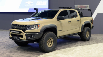 Features included on the Colorado ZR2 Bison include front and rear locking electric differentials.