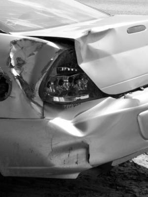 Car rear ended bw