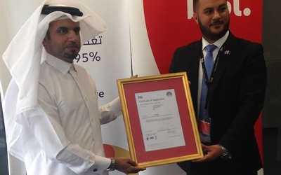Qnbn CEO Ahmed Al-Sulaiti, left, and BSI general manager Omar Rashid