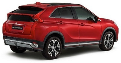 The 2019 Mitsubishi Eclipse has gloss back window switch panels on the LE trim.