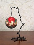 Wrought Iron Twig Ornament Stands, set of 4