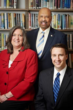 From left to right: Chester County Commissioners  Kathi Cozzone, Terence Farrell and Ryan Costello