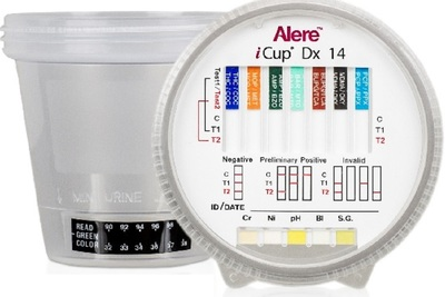 The Alere iCup RX can detect five drugs in a urine sample in five minutes.