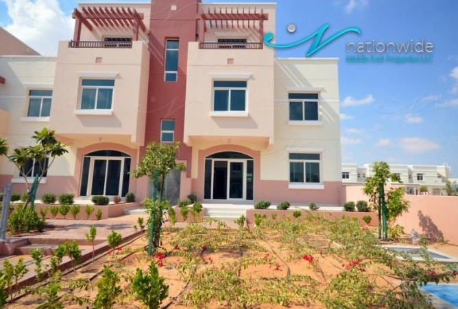 A one bedroom, two bathroom apartment is available in Al Khaleej Village