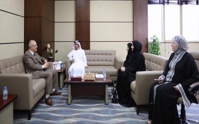 Representatives from UAE University recently visited Ajman University.