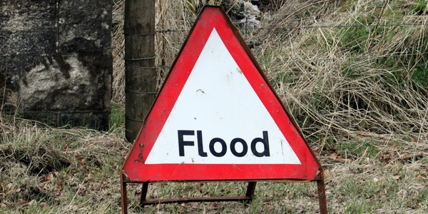 Large floodsign