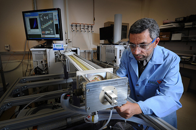 Yehia Ibrahim, a scientist at Pacific Northwest National Laboratory, is part of a team that developed the new Ion Mobility Spectrometry-Mass Spectrometry Proteomics system at EMSL, the Environmental Molecular Sciences Laboratory