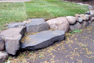 Large stones and boulders can make a strong landscape statement.