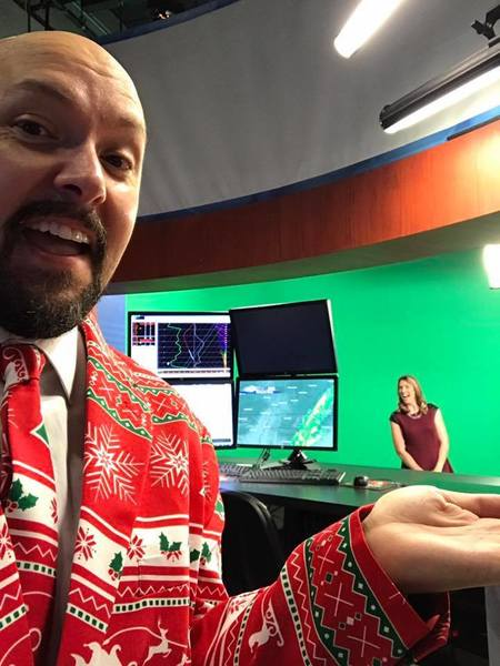 Tom Harness raised $5,000 for charity with his ugly Christmas suit