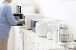 Too many small appliances on a kitchen counter can eat into work space.