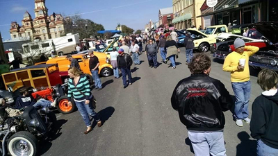 The fifth annual Hot Rods and Hatters car show takes place Saturday, Feb. 6, in Lockhart.