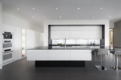 Fantastic European Contemporary Kitchen Design Has Sleek Seamless Home Interior And Landscaping Synyenasavecom
