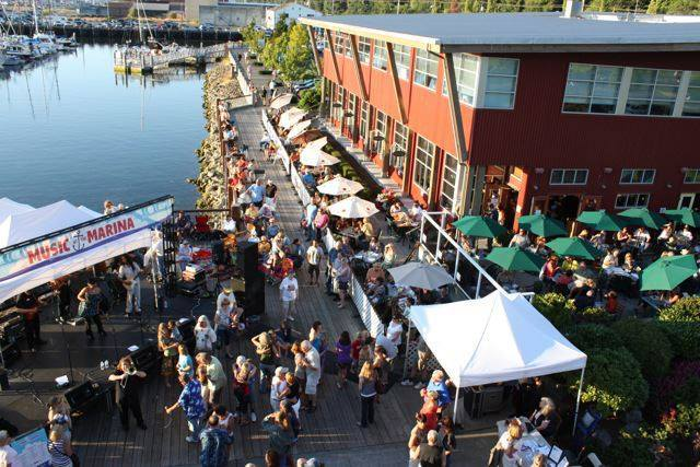 Everett's free Music at the Marina events offer an opportunity to catch local music acts in a beautiful setting.