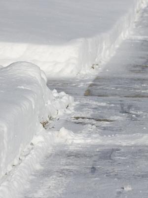 Large snowsidewalk
