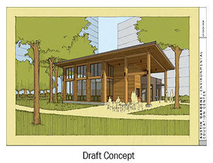 An artist's rendering of the Austin Gardens project.