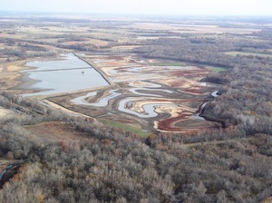 Wetlands restoration in Carroll County.