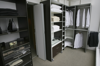 Closet organizers help keep your wardrobe in order.