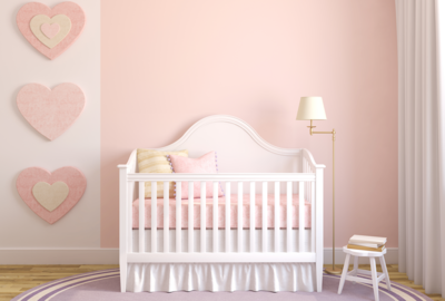 Keep bedding to a minimum in a baby's room, as loose blankets and poofy crib bumpers can be safety hazards.