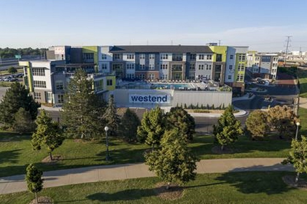 The Westend multifamily development is situated on downtown Denver's 53-acre park system.