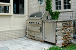A popular choice for outdoor amenities, stacked stone requires a bit of care and upkeep.