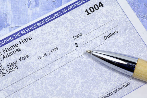 Large paycheck