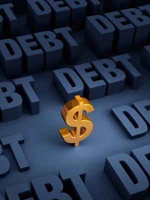 Large debt dollarsign