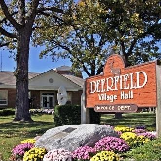 Medium village of deerfield angled sign